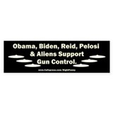 Dems and Aliens Bumper Sticker