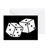 dice_13-5x18.png Greeting Cards (Pk of 20)