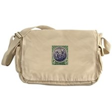 1916 Barbados Neptune Postage Stamp Messenger Bag