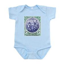 1916 Barbados Neptune Postage Stamp Infant Bodysui