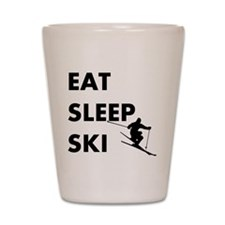 Eat Sleep Ski Shot Glass
