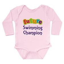 Future Swimming Champion Long Sleeve Infant Bodysu