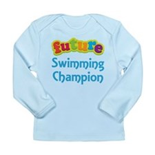Future Swimming Champion Long Sleeve Infant T-Shir