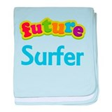 Future Surfer baby blanket