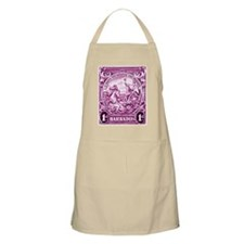 Antique 1948 Barbados Neptune Postage Stamp Apron