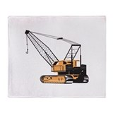 Construction Crane Hoist Retro Throw Blanket