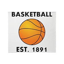 Basketball Est 1891 Throw Blanket