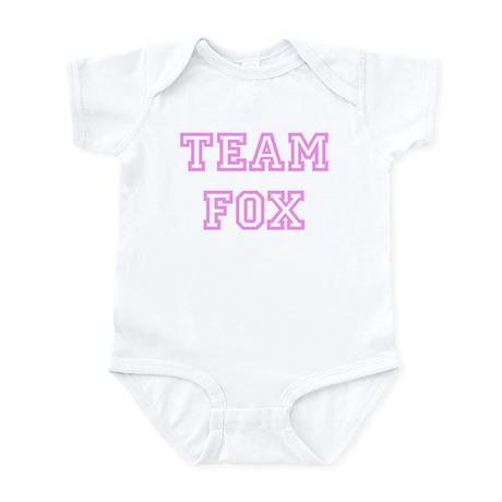 Pink team Fox Infant Bodysuit