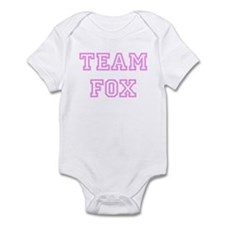 Pink team Fox Infant Bodysuit