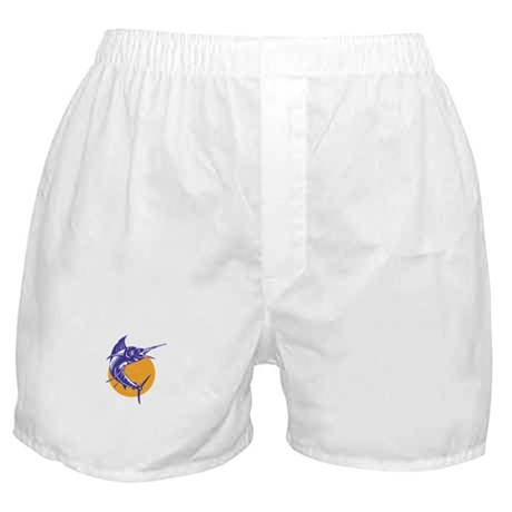 Sailfish Fish Jumping Retro Boxer Shorts