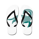 Loch Ness Monster Retro Flip Flops