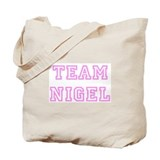 Pink team Nigel Tote Bag