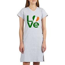 Green Irish Love Women's Nightshirt