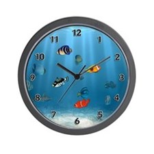 Unique Tropical fish Wall Clock