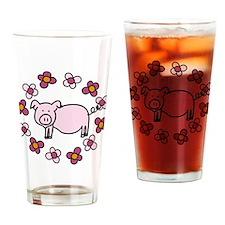 Oink! Drinking Glass