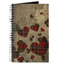 Punk Plaid Hearts Journal