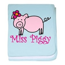 Miss Piggy baby blanket