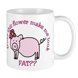 Does this flower make me look fat? Small Mug