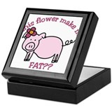 Does this flower make me look fat? Keepsake Box