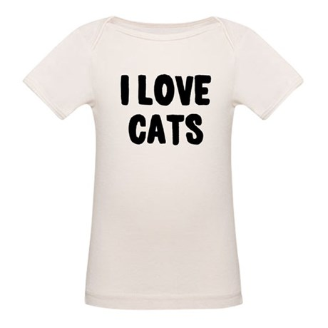 I Love Cats Organic Baby T-Shirt