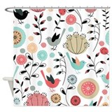 Pretty Bird Pattern Shower Curtain