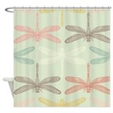 Vintage Dragonflies Shower Curtain