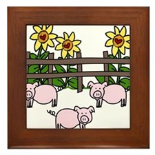 Oink Oink Framed Tile