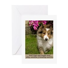 Dogs and People Greeting Card