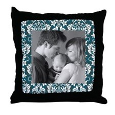 Custom Photo/ Damask Throw Pillow