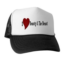 Beauty and The Beast Heart Trucker Hat