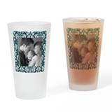 Custom Photo Damask Frame Drinking Glass