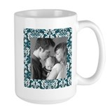 Custom Photo Damask Frame Coffee Mug