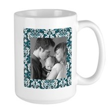 Custom Photo Damask Frame Mug