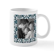 Custom Photo Damask Frame Small Mug