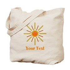 Summer Sun with Text. Tote Bag