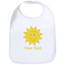 Yellow Happy Sunshine. Text. Bib