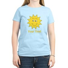 Yellow Happy Sunshine. Text. T-Shirt