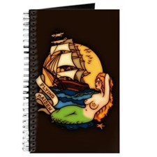 Pirate Ship Mermaid Tattoo Art Journal