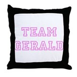 Pink team Gerald Throw Pillow