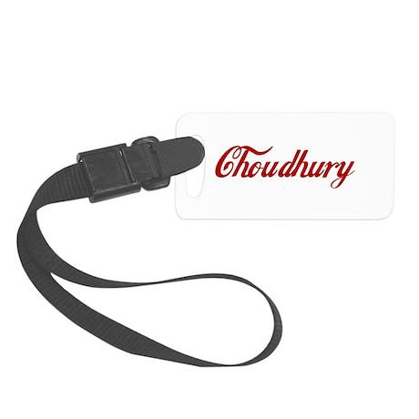 Choudhury name Small Luggage Tag
