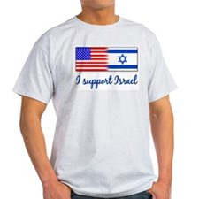 I Support Israel Ash Grey T-Shirt T-Shirt
