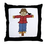 Scarecrow Straw Hat Throw Pillow