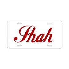 Shah name.png Aluminum License Plate