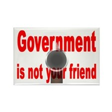 """Gvrnmnt is not your friend"" Rectangle Magnet (100"