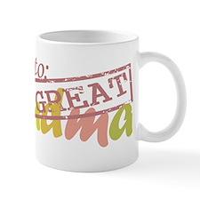 Promoted to Great Grandma Small Mug