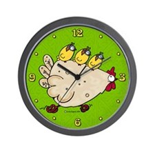 Race Chicken Wall Clock