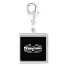 Combat Action Badge Silver Square Charm