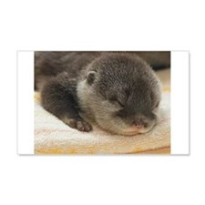 Sleeping Otter Wall Decal