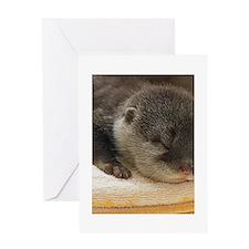 Sleeping Otter Greeting Card
