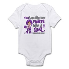 Fights Like a Girl 42.9 Lupus Infant Bodysuit